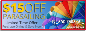 Ocean City Parasailing Coupon 15 Dollars Off